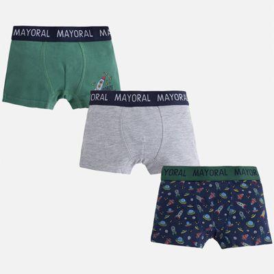 Трусы (3 шт.) для мальчика Mayoral - зеленый