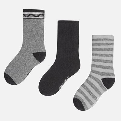Носки (3 пары) для мальчика Mayoral - серый