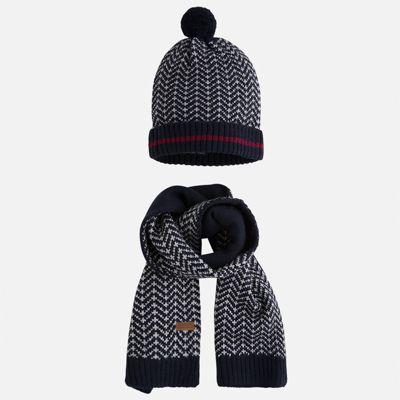 Комплект: шапка и шарф Mayoral для мальчика - темно-синий