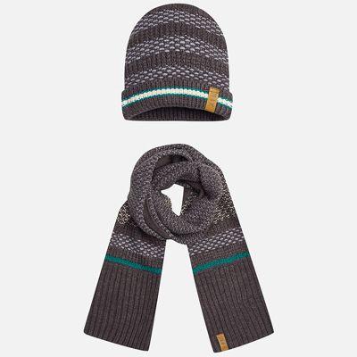 Комплект: шапка и шарф Mayoral для мальчика - черный