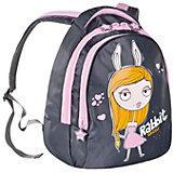 Рюкзак Grizzly, серый-розовый