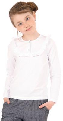 Футболка с длинным рукавом для девочки Апрель - белый