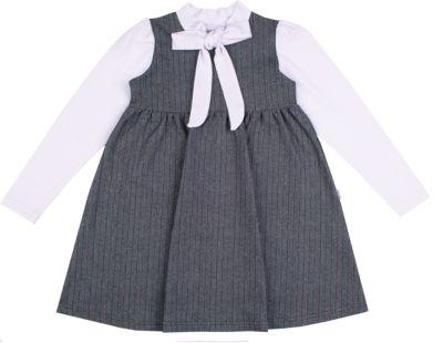 Платье для девочки Апрель - серый