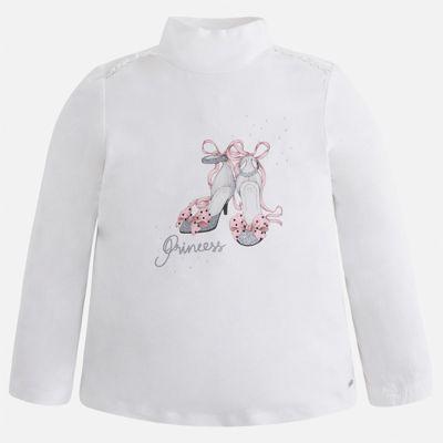 Водолазка для девочки Mayoral - розовый/белый