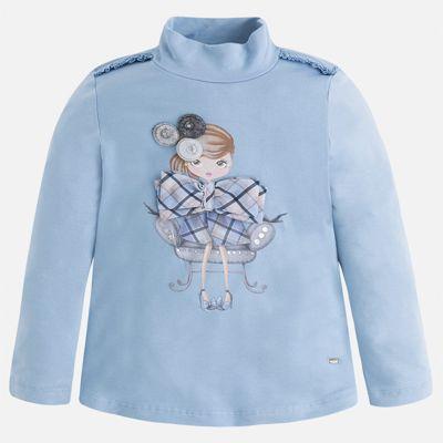 Водолазка для девочки Mayoral - голубой