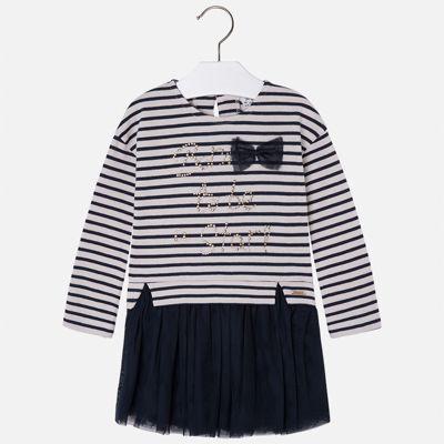 Платье для девочки Mayoral - синий/белый