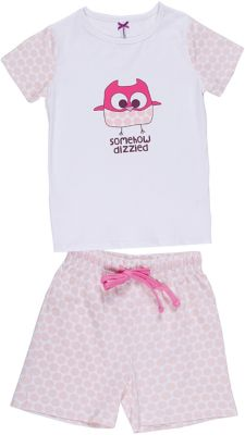 Комплект: футболка и шорты для девочки Sweet Berry - белый