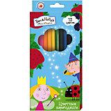 """Цветные карандаши, 12 цветов, """"Бен и Холли"""""""