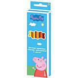 """Цветные карандаши: толстые, 6 цветов, """"Свинка Пеппа"""""""