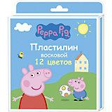 """Пластилин восковой, 12 цветов, """"Свинка Пеппа"""""""