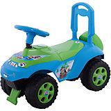 """Машинка-каталка """"Автошка"""" с музыкальным рулем, голубо-зеленая, Doloni"""