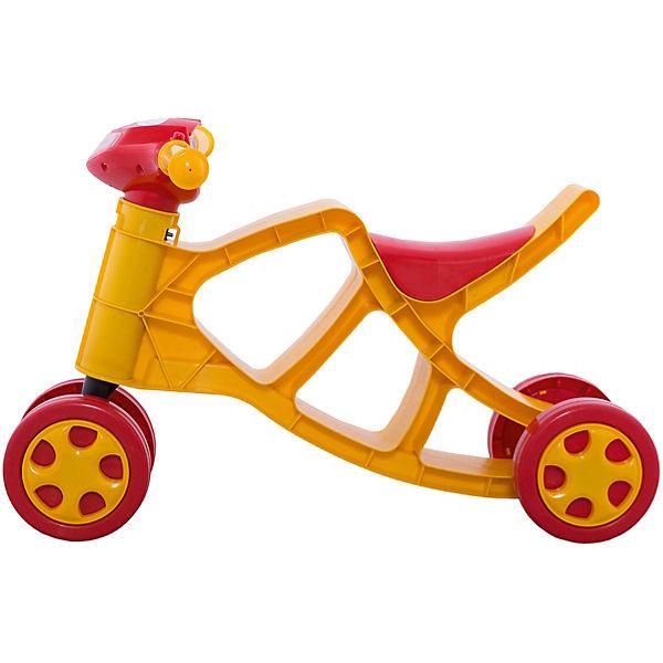Каталка «Минибайк» со звуком, желто-красная, Doloni