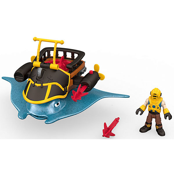 Набор Капитан Немо и скат Captain Nemo & Stingray, Fisher Price, Imaginext