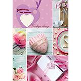 """Дневник для девочек  формата А5,  """"Коллаж сердечки"""". 80 листов"""