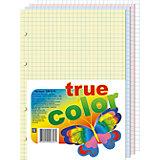 Блок сменный формата А5,200л, клетка, тонированный 4 цвета
