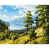 Живопись на холсте 40х50см Лесной пейзаж Белоснежка