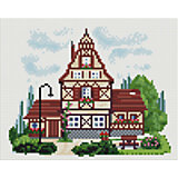 Мозаичная картина на холсте 20х25см  Домик с башенкой Белоснежка
