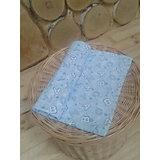 Пеленка трикотажная, 90*120, GulSara, голубой с белыми буквами