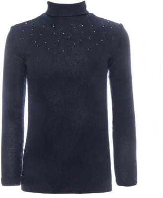 Водолазка с длинным рукавом SELA для девочки - темно-синий