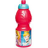 Бутылка пластиковая 400 мл., Принцессы Disney