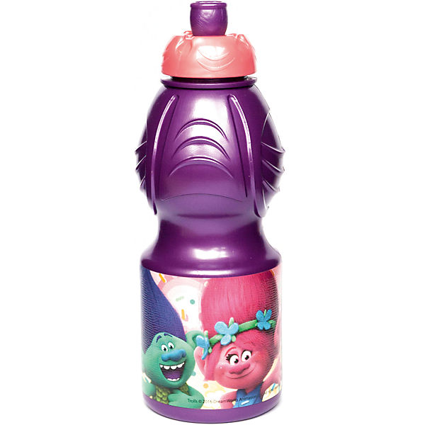 Бутылка пластиковая 400 мл., Тролли