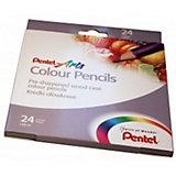 Цветные карандаши 24 цвета Colour pencils Pentel