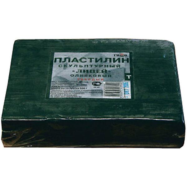 Пластилин скульптурный оливковый 0.5 кг, твердый Гамма
