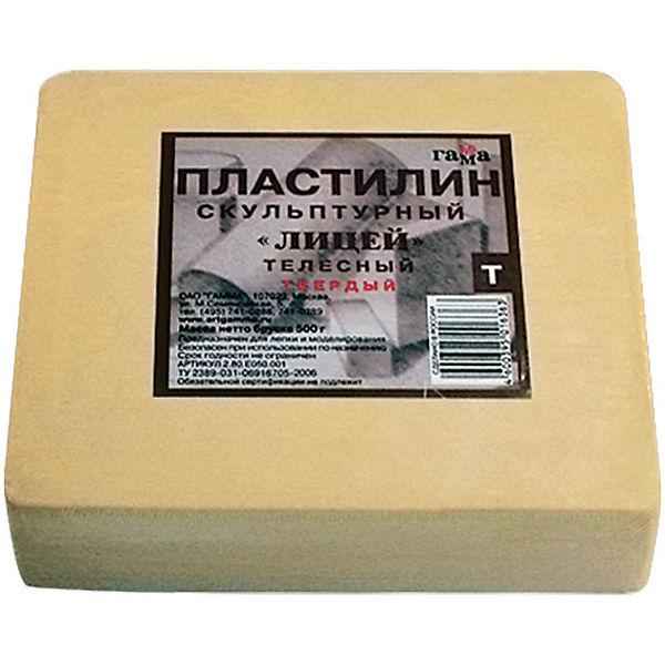 Пластилин скульптурный ТЕЛЕСНЫЙ Т 0.5кг Гамма