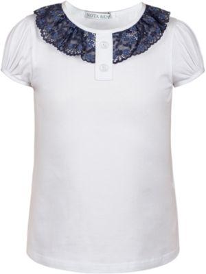 Блузка Nota Bene для девочки - белый
