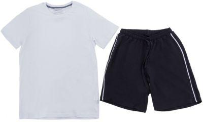 Комплект: футболка и шорты Nota Bene для мальчика - белый