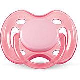 Силиконовая пустышка Free Flow, 0-6 мес., AVENT, розовый