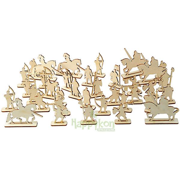 Деревянный набор рыцарей для крепости Happykon