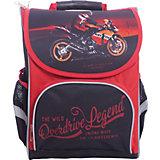 Ранец Premium box полужесткий с дизайном Мото