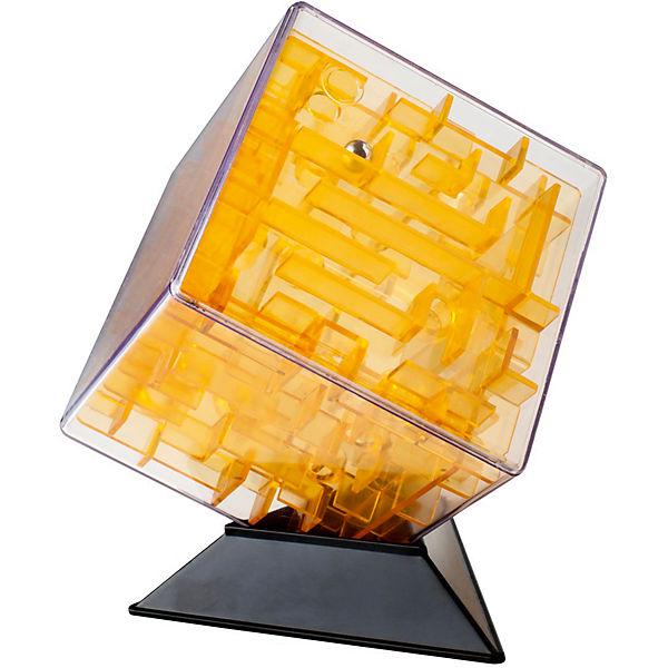 Головоломка Куб жёлтый 10 см, Лабиринтус