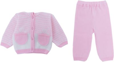 "Комплект ""Мишка в кармане"" Уси-Пуси для девочки - розовый"