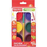 Пальчиковые краски Fisher Price 6 цветов