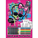 Набор для рисования Mattel Monster High с мелками и карандашами
