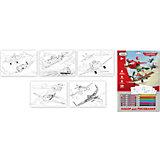 Набор для рисования Disney Самолеты  с мелками и карандашами