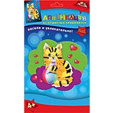 Набор для детского творчества Аппликация в подарок Павлин, Сова и Кошка