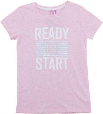 Футболка SELA для девочки - розовый