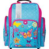 Ранец жесткокаркасный BRAUBERG для начальной школы, девочка, Махаон, 18 литров, 36*26*14 см