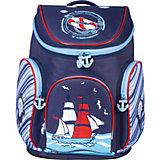 Ранец жесткокаркасный BRAUBERG для начальной школы, мальчик, Корабль, 14 литров, 38*29*19 см