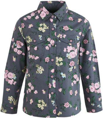 Блузка Button Blue для девочки - темно-серый