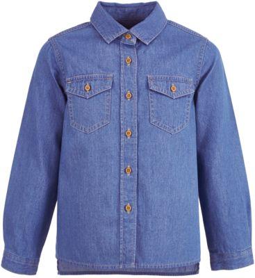 Джинсовая рубашка Button Blue для девочки - голубой