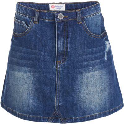 Юбка BUTTON BLUE для девочки - темно-синий