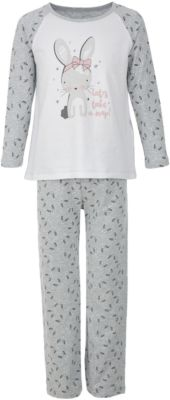 Пижама Button Blue для девочки - серый