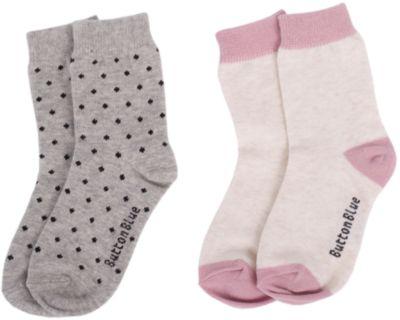 Носки BUTTON BLUE для девочки - серый