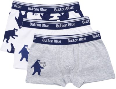 Трусы-боксеры Button Blue для мальчика - белый