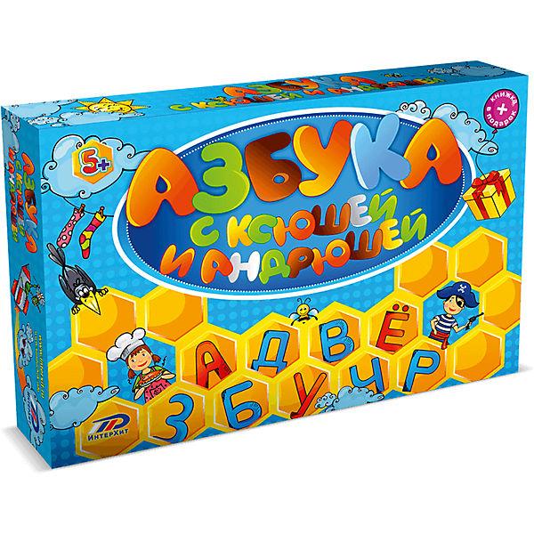 """Настольная игра """"Азбука с Ксюшей и Андрюшей"""" ИнтерХит"""