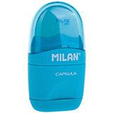 """Точилка с ластиком """"Capsule"""" Milan, 1 отверстие, в ассортименте"""